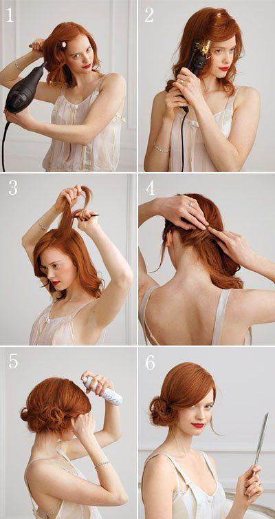 Стрижка на каждый день своими руками на средние волосы фото