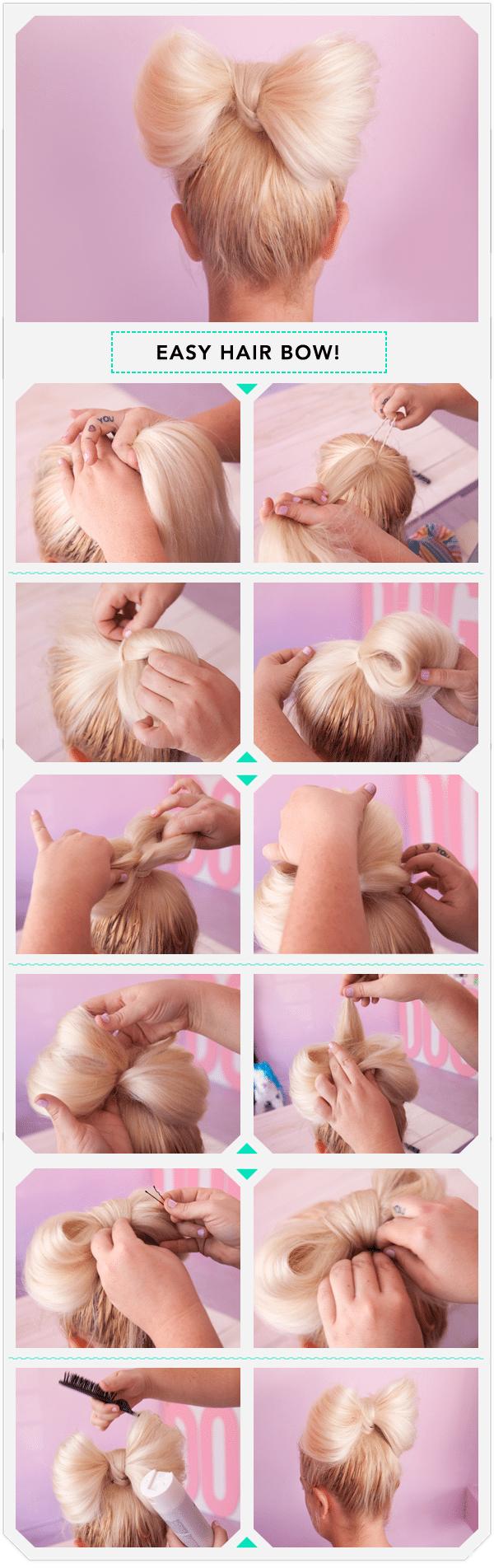 Как сделать бант из волос видео пошаговая инструкция